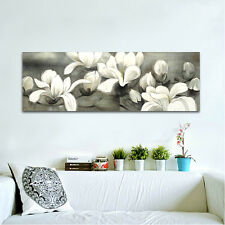Huge HD Flowers Modern Art Print on Canvas Stretched Wall Home Decor (Framed)
