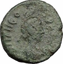 THEODOSIUS II 425AD  Ancient Roman Coin Nike w two wreath of success i32828