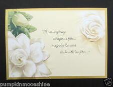 #G543- Retired Unused Marjolein Bastin Greeting Card Stunning Magnolia Blossom