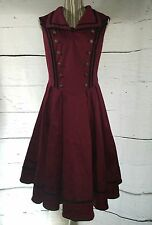 Spin Doc Renaissance Fest Medieval Cos Play Dress Burgundy Rope Button S/M