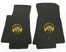 NEW! BLACK FLOOR MATS 2012-2013 Dodge Charger Super Bee Embroidered Logo LOOK