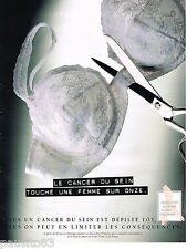 PUBLICITE ADVERTISING 065  1995  DEPISTAGE  CANCER DU SEIN