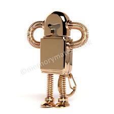 2GB Gold Bendy Robot USB Flash Drive/ Memory Stick/ Office/ School/ Gift/Present