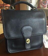 Vintage Coach Station Black Leather Handbag Bag Purse 5130