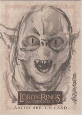 "Lord of the Rings Masterpieces II - RARE Brian Ashmore ""Moria Orc"" Sketch Card"