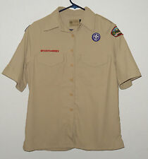 BOY SCOUTS Of America UNIFORM Shirt VENTED BACK Poly Womens Ladies : SMALL Sm
