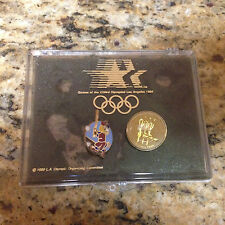2 Pins From 84 los angeles olympics summer. w/ case
