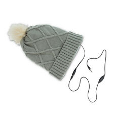 WINTER HAT DIAMONDS CAPPELLO ALLA MODA CON CUFFIE AURICOLARI LETTORE MP3 GRIGIO
