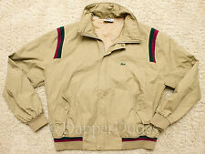 VTG! Rare Style LACOSTE Shoulder Stripe Bomber Jacket-Men's XL-80's-