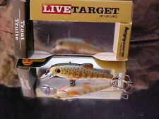 "Koppers 2"" Live Target 1/8oz Fry & Parr Trout Replica Lure TF50S901 BROWN TROUT"