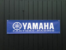 Yamaha Factory Racing Motorcycle Banner for Garage / Shop / Promotional Item