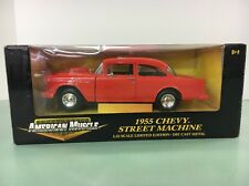 *1955 CHEVY STREET MACHINE 1:18TH AMERICAN MUSCLE by ERTL COLLECTIBLES* NIB,NOS
