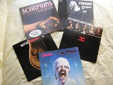 SCORPIONS X 5 LP Lonesome crow,In trance,Best of,Taken force,Blackout EX- to EX+
