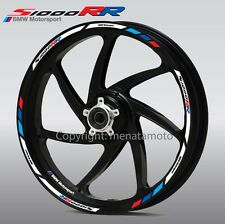 s1000RR motorcycle wheel decals 12 rim sticker set stripes hp4 BMW Motorsport