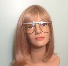 Vintage Laura Biagiotti Italy Oversize Gold Metal & Grey Eyeglass Frames