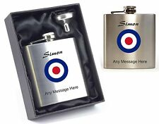 personalised MOD Hip Flask Design With Any Message supplied in gift box