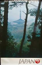 JAPAN AIRLINES KYOTO DAIGOJI TEMPLE 1969 Vintage Travel poster