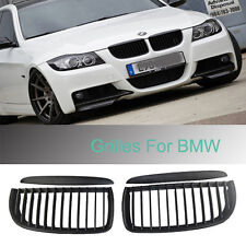 Black Front Kidney Grill Grilles For BMW 05-08 Sedan Wagon E90 E91 320i-335i 4DR