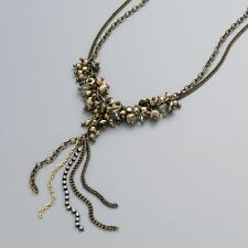 NEW Simply Vera Vera Wang Gold Tone  + Champagne Bead Y Necklace - 19 Inch $30