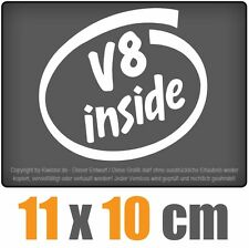 V8 inside 11 x 10 cm JDM Decal Sticker Aufkleber Racing Die Cut