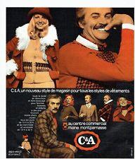 Publicité Advertising 037  1975  Magasin C & A   pret à porter