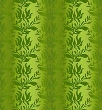 Fabric #2445, Green Ombre Stripe Leaves Vines Jason Yenter ITB, Sold by 1/2 Yard