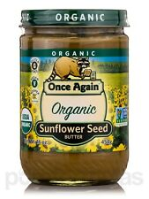 Organic Sunflower Seed Butter - Lightly Sweetened - 16 oz (454 Grams) by Once Ag