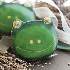 Leather Frog Coin Purse Wallet Anime Manga Shape Fluff Clutch Cosplay Green