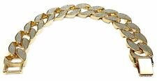 Cuban Curb Thick Braclet Hip Hop Gold Tone Heavy 17MM Wide Mens 8.5""