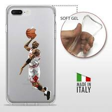 iPhone 7 Plus TPU CASE COVER PROTETTIVA GEL TRASPARENTE NBA Basket Jordan
