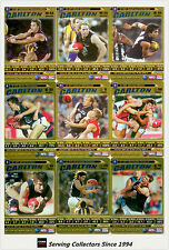 2006 AFL Teamcoach Trading Card Gold Team Set Carlton (9)