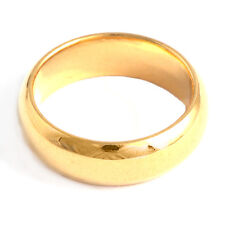 Handsome Ideal 9K Yellow Gold Filled Smooth Unisex rings Size 9 Eternity Armor