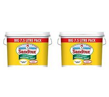 2 for £59.99 - Sandtex Pure Brilliant White - Masonry Paint 7.5L - Ultra Smooth