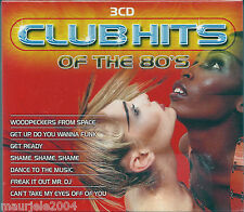 Club Hits Of The 80's (2004) BOX 3 CD NUOVO Woodpeckers from Space. Witch Doctor