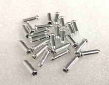 25 BICYCLE SHIFTER BRAKE CABLE TIPS CAPS ENDS CRIMPS SILVER