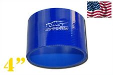 """4PLY Silicone Straight Coupler Hose Coupling 102mm 4"""" Blue"""