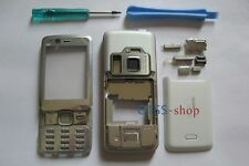 White Full Fascia Housing Cover Case for Nokia N82 + Keypad Faceplate Tools NEW