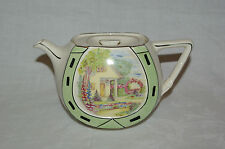 Vintage Art Deco Tea Pot Lucky Horseshoe Gibsons Luckie Teapot Country Cottage