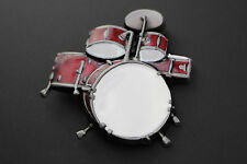 RED DRUM KIT ROCK BELT BUCKLE METAL MUSIC
