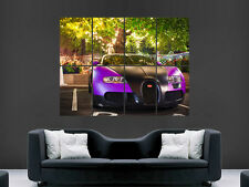 BUGATTI VEYRON SUPERCAR ART LARGE ART HUGE  GIANT POSTER PRINT