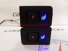VW GOLF MK4 / BORA BLUE & RED LED HEATED SEAT SWITCHES (PAIR) + FREE UK POSTAGE