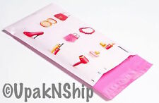 100 6x9 Pink Make Up Designer Mailers Poly Shipping Envelopes Boutique Bags