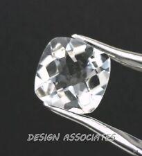 DIAMOND QUARTZ 12X12 MM CUSHION CUT CHECKERBOARD TOP  ALL NATURAL AAA