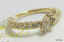 Kate  Spade  Handbag Knot Pave Rings Band Ring Crystal Gold  NWT KSNY size  7