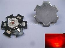 10PCS 1W Deep Red High Power 660NM Plant Grow LED Emitter with 20mm Star