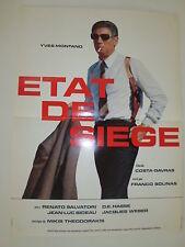 ETAT DE SIEGE AFFICHE du célèbre film de COSTA GABRAS avec YVES MONTANT