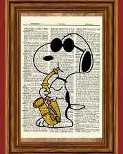 "Snoopy Charlie Brown Dictionary Art Print Picture Poster Peanuts *Shades"" Music"