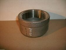 """ASP 2-1/2"""" 304 STAINLESS STEEL 150# END CAP THREADED"""
