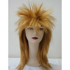 1980'S GLAM ROCK SPIKEY WIG UNISEX - GINGER SPIKEY WIG FOR FANCY DRESS PARTY