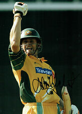 Adam GILCHRIST Signed Autograph 16x12 Australia Cricket LARGE Photo AFTAL COA